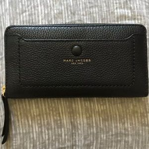 NWT MARC JACOBS Open Face Leather Wallet Black